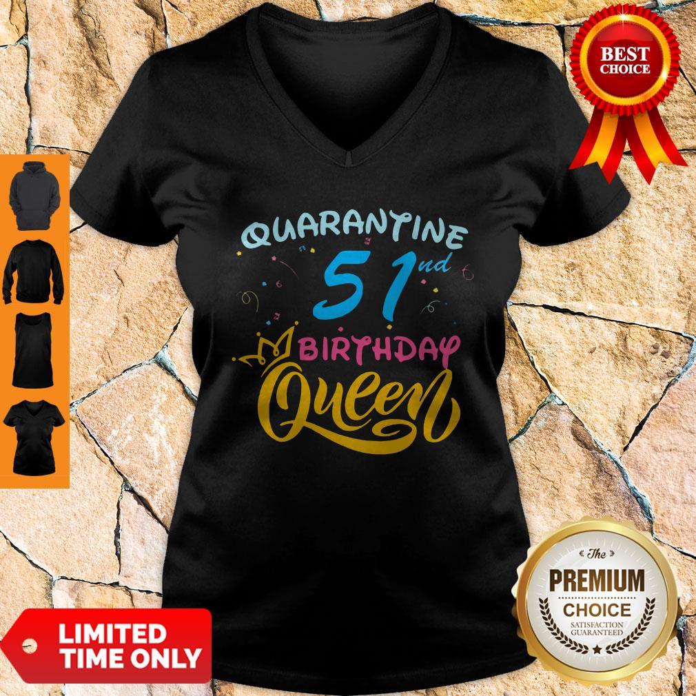 Nice Born in 1978 My 51st Birthday Queen Quarantine Social Distancing Quarantined Birthday 2020 V-Neck