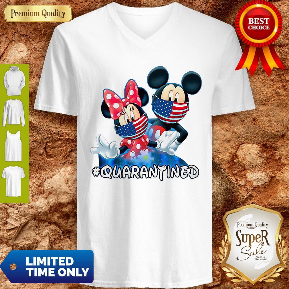 Nice Mickey And Minnie Quarantined V-Neck