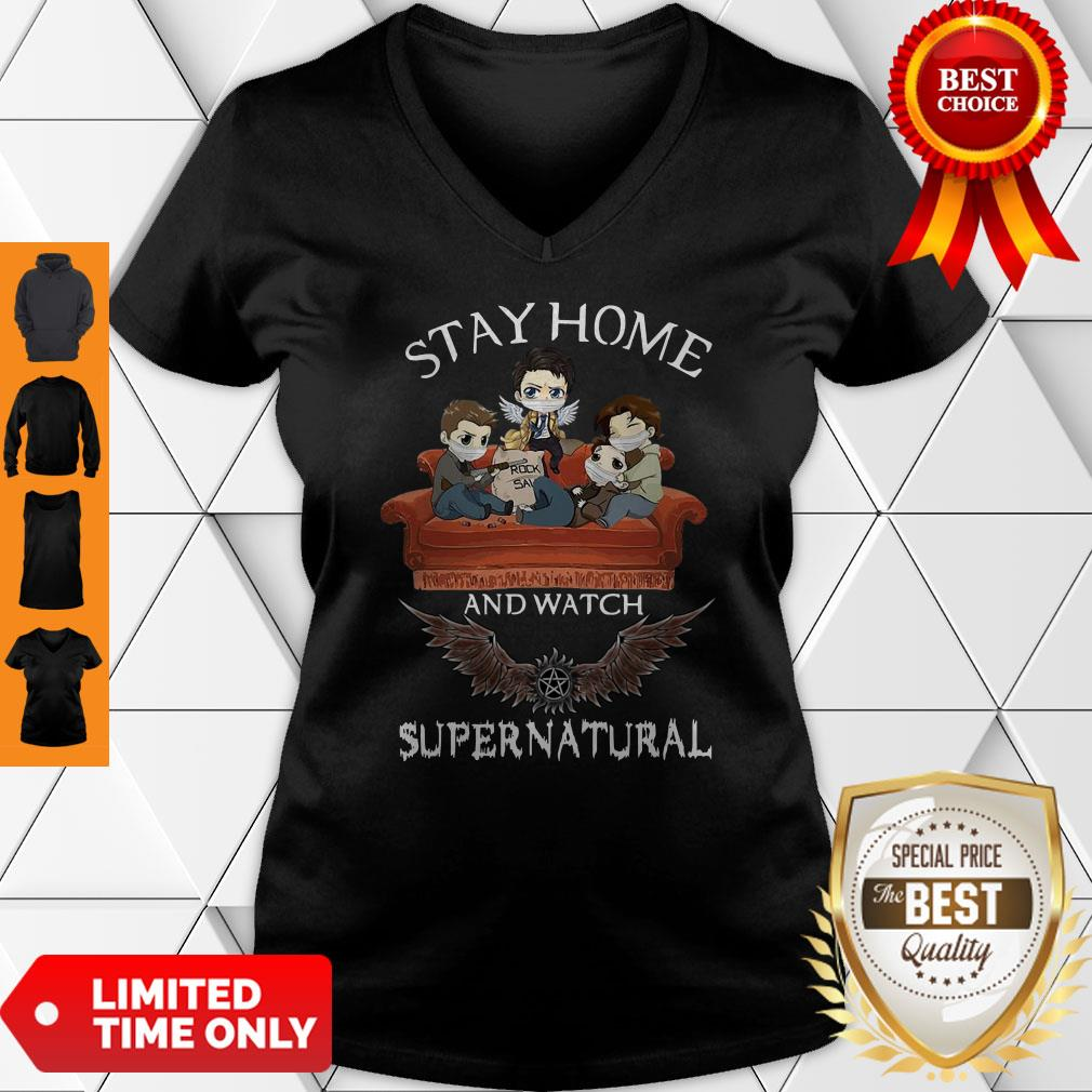 Premium Stay Home And Watch Supernatural V-neck
