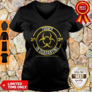 Biohazard Symbol Turned 2020 In Quarantined Mask COVID-19 V-neck