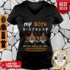 My 50th Birthday 2020 The Year When Sh#t Got Real Quarantined Tiger King Funny Joe Exotic Birthday Tee V-Neck