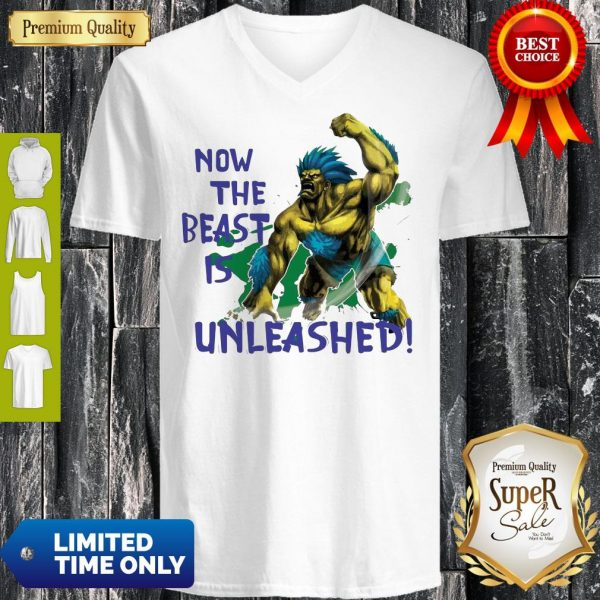Awesome Beast Is Unleashed Street Fighter V-neck