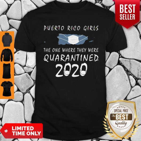 Awesome Puerto Rico Girls Face Mask Quarantined 2020 Shirt