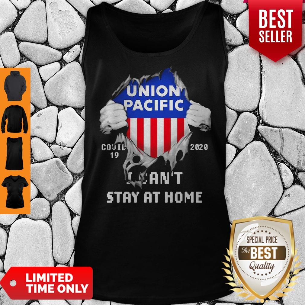 Blood Inside Me Union Pacific COVID-19 2020 I Can't Stay At Home Tank Top