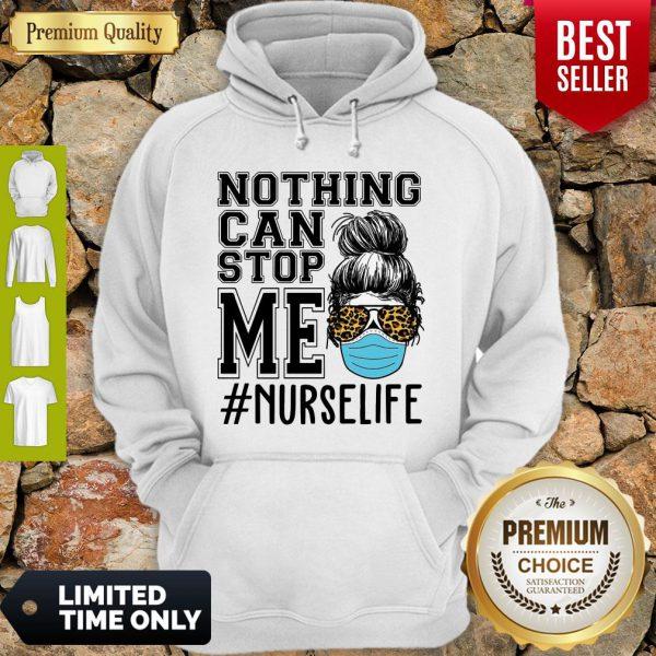 Bun Hair Nothing Can Stop Me Nurse Life Hoodie