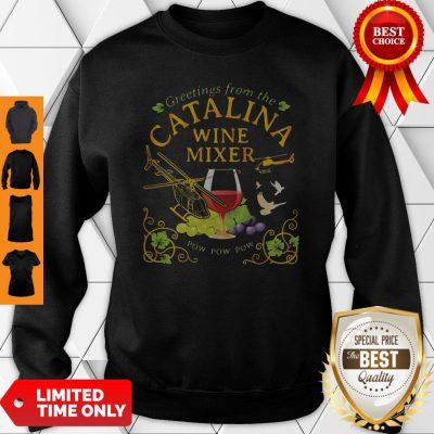 Greetings From The Catalina Wine Mixer Pow Pow Pow Grape Sweatshirt