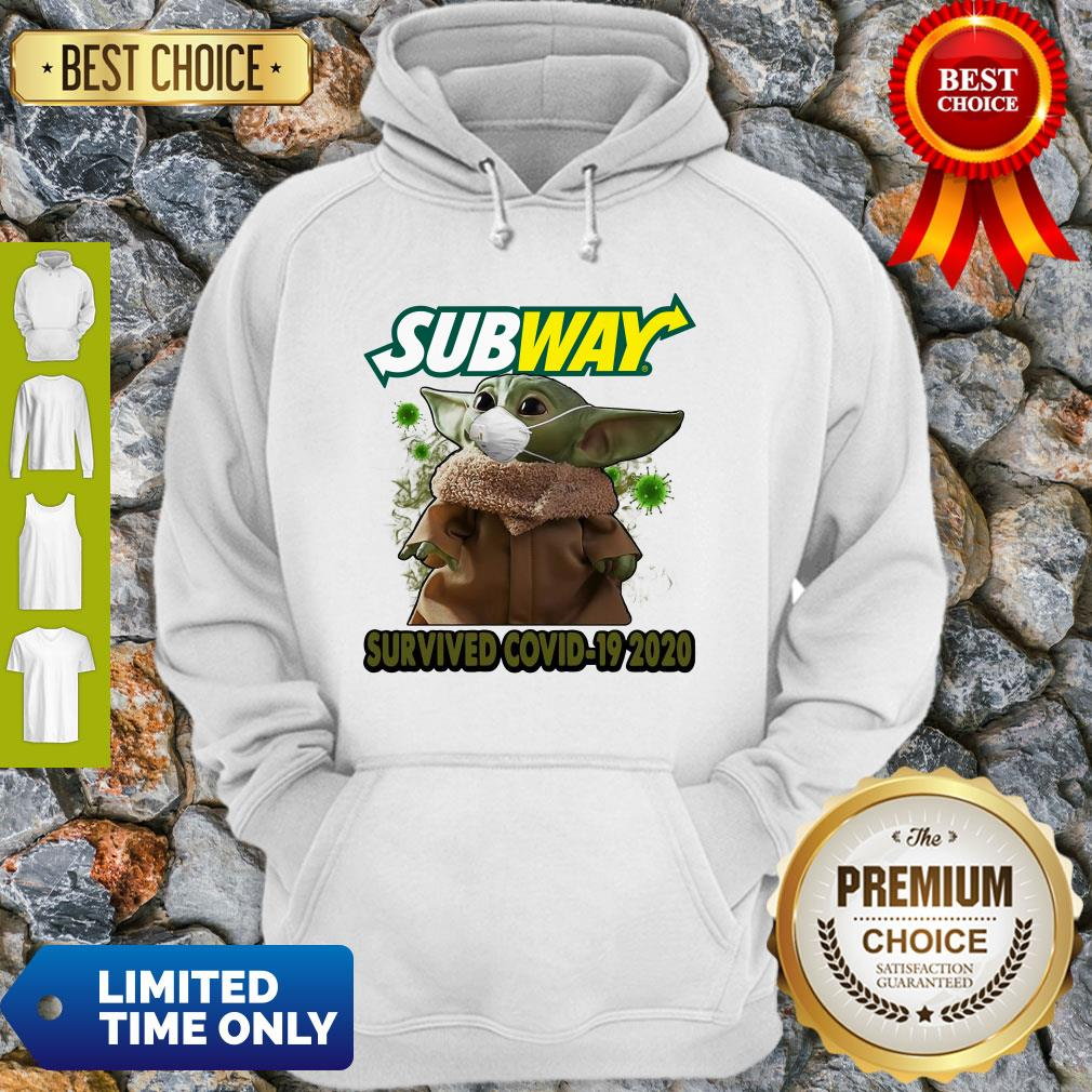 Baby Yoda Mask Subway Survived COVID-19 2020 Hoodie