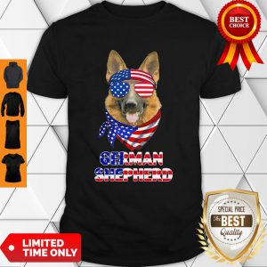 Independence Day German Shepherd Glasses America Shirt