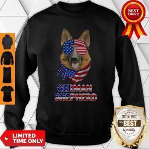 Independence Day German Shepherd Glasses America Sweatshirt
