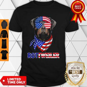 Independence Day Rottweiler Glasses America Shirt