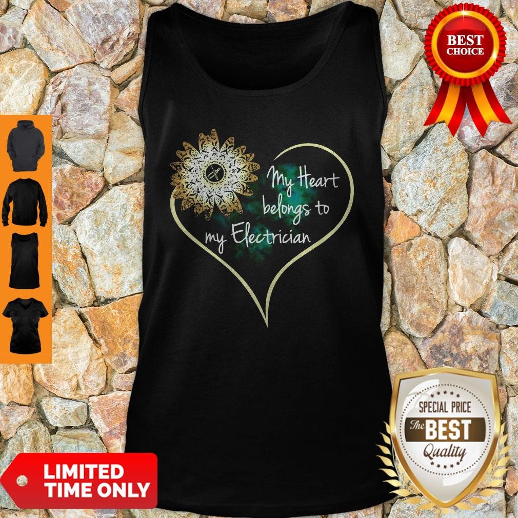 Official My Heart Belongs To My Electrician Tank Top