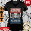 Official Vintage Reagan In The Streets Kennedy In The Sheets V-neck