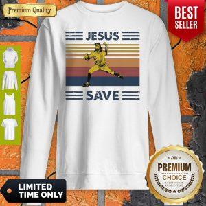 Premium Jesus Saves Baseball Vintage Sweatshirt