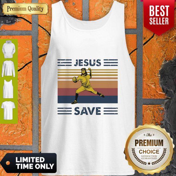 Premium Jesus Saves Baseball Vintage Tank Top