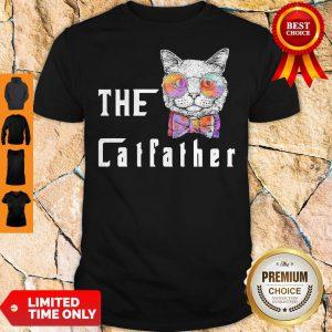 Premium The Catfather Cat Glasses Shirt