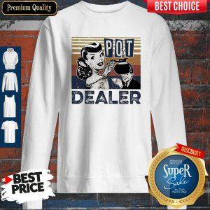 Pretty Coffee Lover Pot Dealer Vintage Sweatshirt