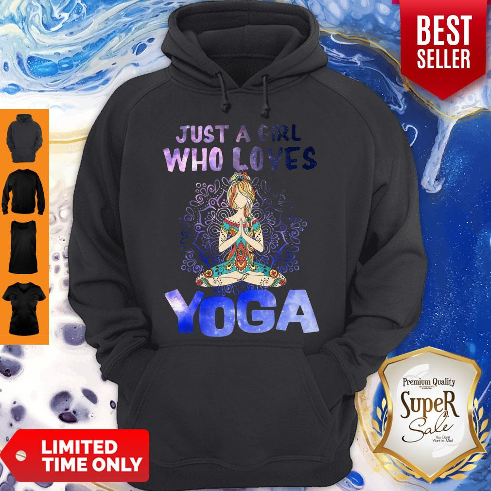Pretty Just A Girl Who Loves Yoga Hoodie