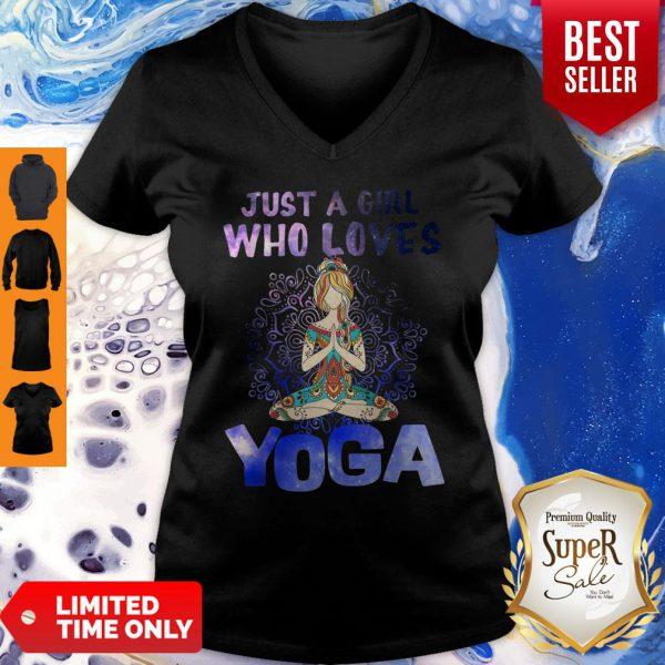 Pretty Just A Girl Who Loves Yoga V-neck