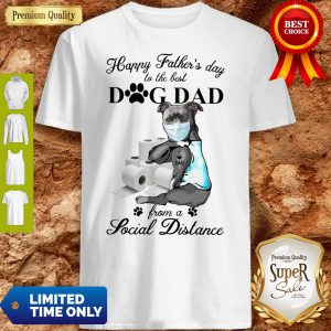 Pretty Pit Bull Tattoo I Love Dad Happy Father's Day Shirt