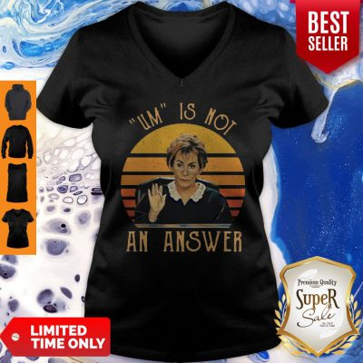Pretty Udge Judy Um Is Not An Answer Retro Vintage V-neck