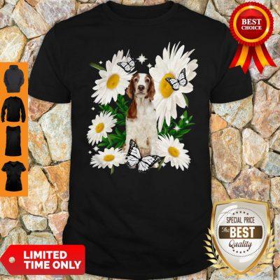 Top Welsh Springer Spaniel Daisy Flower Classic Shirt