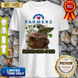 Baby Yoda Mask Farmers Insurance Survived COVID-19 2020 Shirt