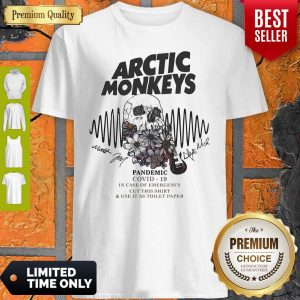 Premium Skull Guitar Flower Arctic Monkeys Pandemic COVID-19 In Case Of Emergency Shirt
