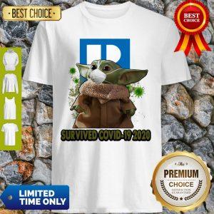 Baby Yoda Mask Realtors Survived COVID-19 2020 Shirt