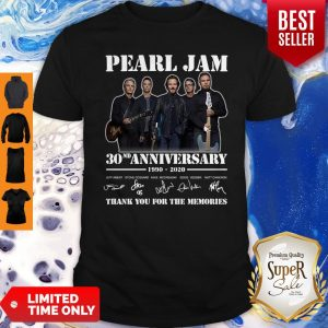 Pearl Jam 30th Anniversary 1990 2020 Signatures Thank You For The Memories Shirt
