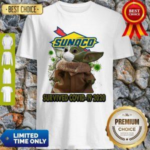 Baby Yoda Mask Sunoco Survived COVID-19 2020 Shirt