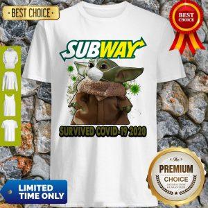 Baby Yoda Mask Subway Survived COVID-19 2020 Shirt