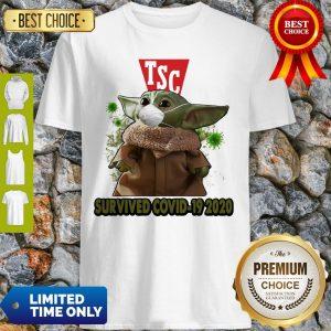 Baby Yoda Mask TSC Survived COVID-19 2020 Shirt