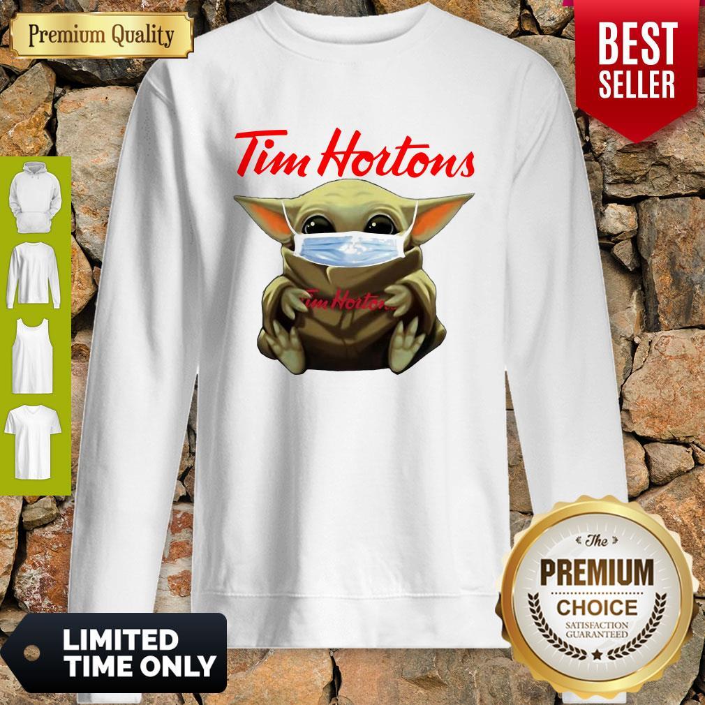 Star Wars Baby Yoda Hug Tim Hortons Mask Covid 19 Sweatshirt