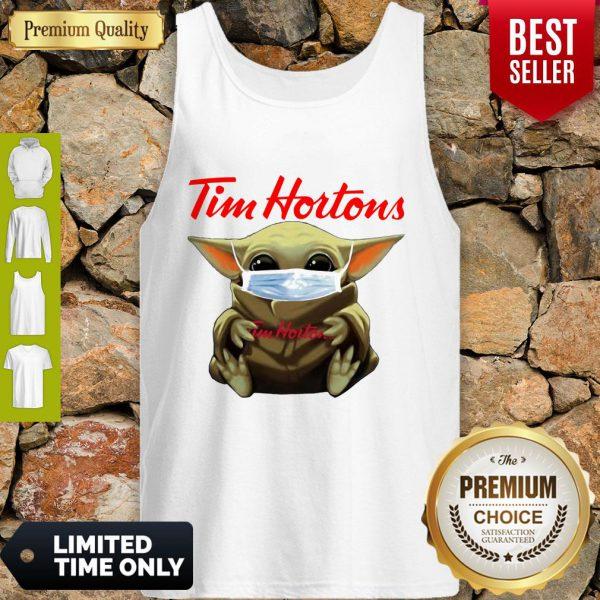 Star Wars Baby Yoda Hug Tim Hortons Mask Covid 19 Tank Top