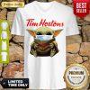 Star Wars Baby Yoda Hug Tim Hortons Mask Covid 19 V-neck