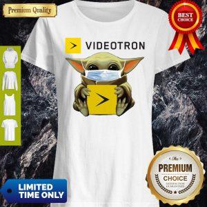 Star Wars Baby Yoda Hug Videotron Mask COVID-19 Shirt