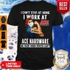 Strong Woman Face Mask I Can't Stay At Home I Work At Ace Hardware We Fight When Others Can't Shirt