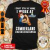 Strong Woman Face Mask I Can't Stay At Home I Work At Cumberland We Fight When Others Can't Shirt
