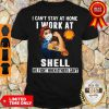 Strong Woman Face Mask I Can't Stay At Home I Work At Shell We Fight When Others Can't Shirt