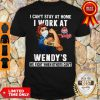 Strong Woman Face Mask I Can't Stay At Home I Work At Wendy's We Fight When Others Can't Shirt