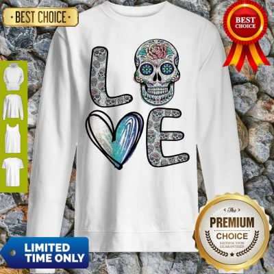 Nice Love Sugar Skull Diamonds Sweatshirt