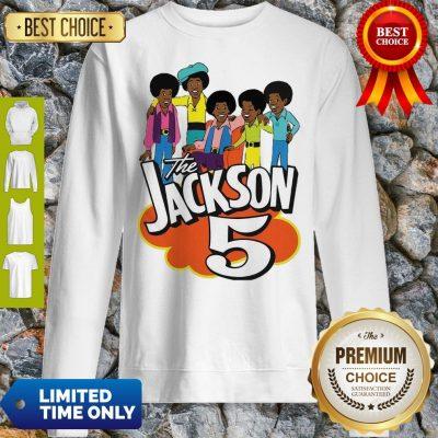 Jackson 5 70's Cartoon Retro Vintage Style Distressed Sweatshirt