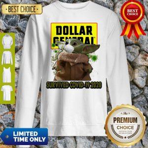Baby Yoda Mask Dollar General Survived COVID-19 2020 Sweatshirt