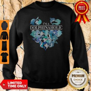 Official I'm A Dolphin Aholic Heart Sweatshirt