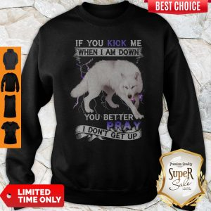 Wolf If You Kick Me When I Am Down You Better Pray I Don't Get Up Sweatshirt