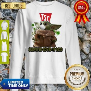 Baby Yoda Mask TSC Survived COVID-19 2020 Sweatshirt