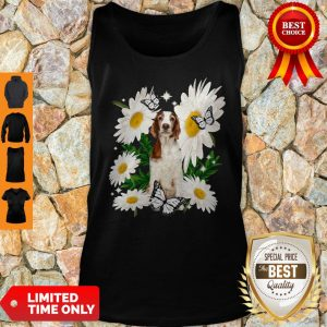 Top Welsh Springer Spaniel Daisy Flower Classic Tank Top