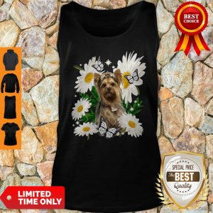 Top Yorkshire Terrier Dog Daisy Flower Classic Tank Top