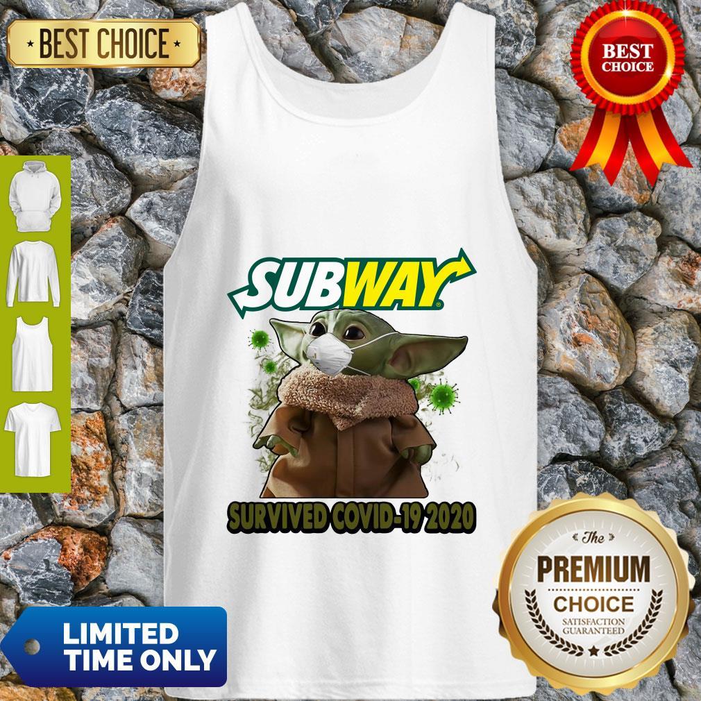 Baby Yoda Mask Subway Survived COVID-19 2020 Tank Top