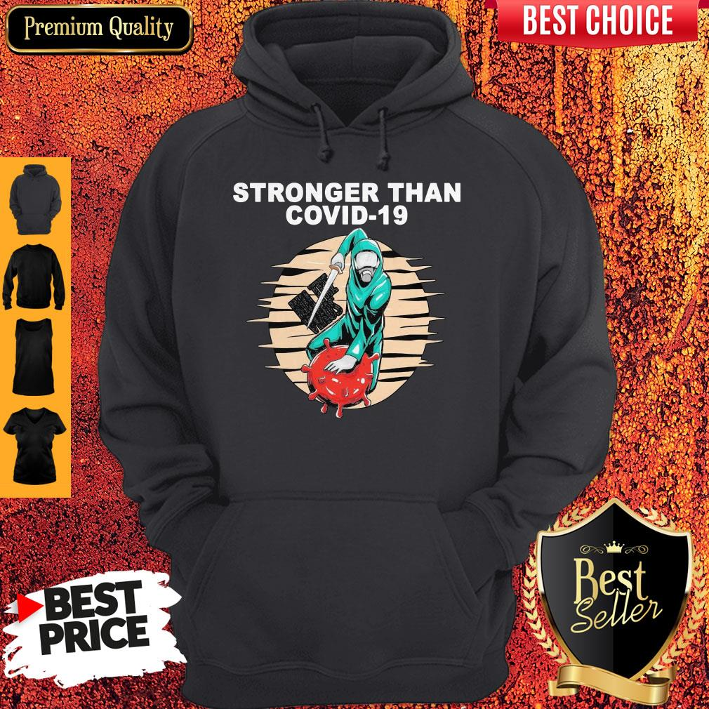 Top Baseball Stronger Than COVID-19 Kill The Virus Hoodie
